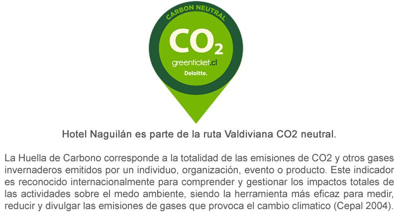 Hotel Naguilán es parte de la ruta Valdiviana CO2 neutral.