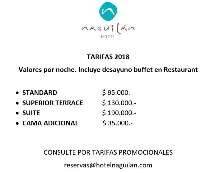 Tarifas 2018